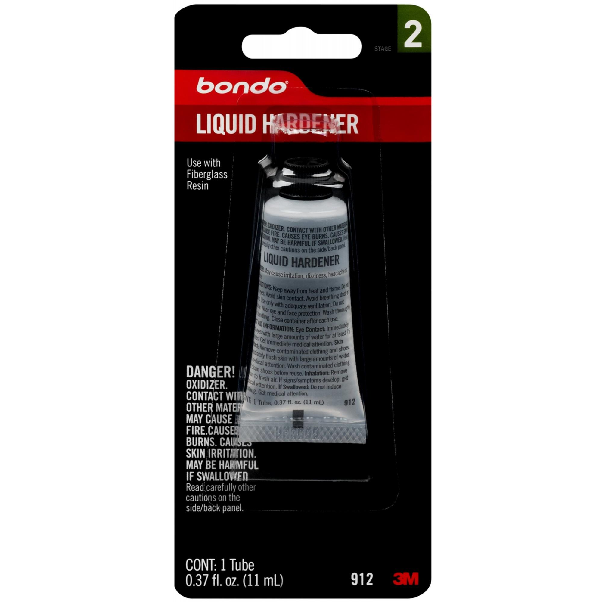 Bondo Liquid Hardener, 00912, .37 oz, 1 Tube