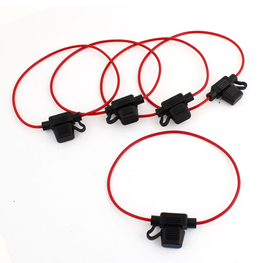 Waterproof Car Boat Truck Red Wire Mini ATC Blade Fuse Holder 32V 20A 5 Pcs