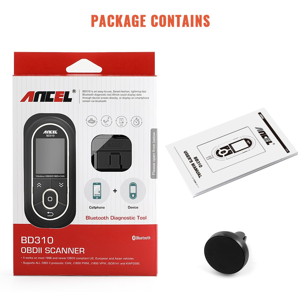 Ancel BD310 Bluetooth OBD2 Automotive Scanner OBD Gauge
