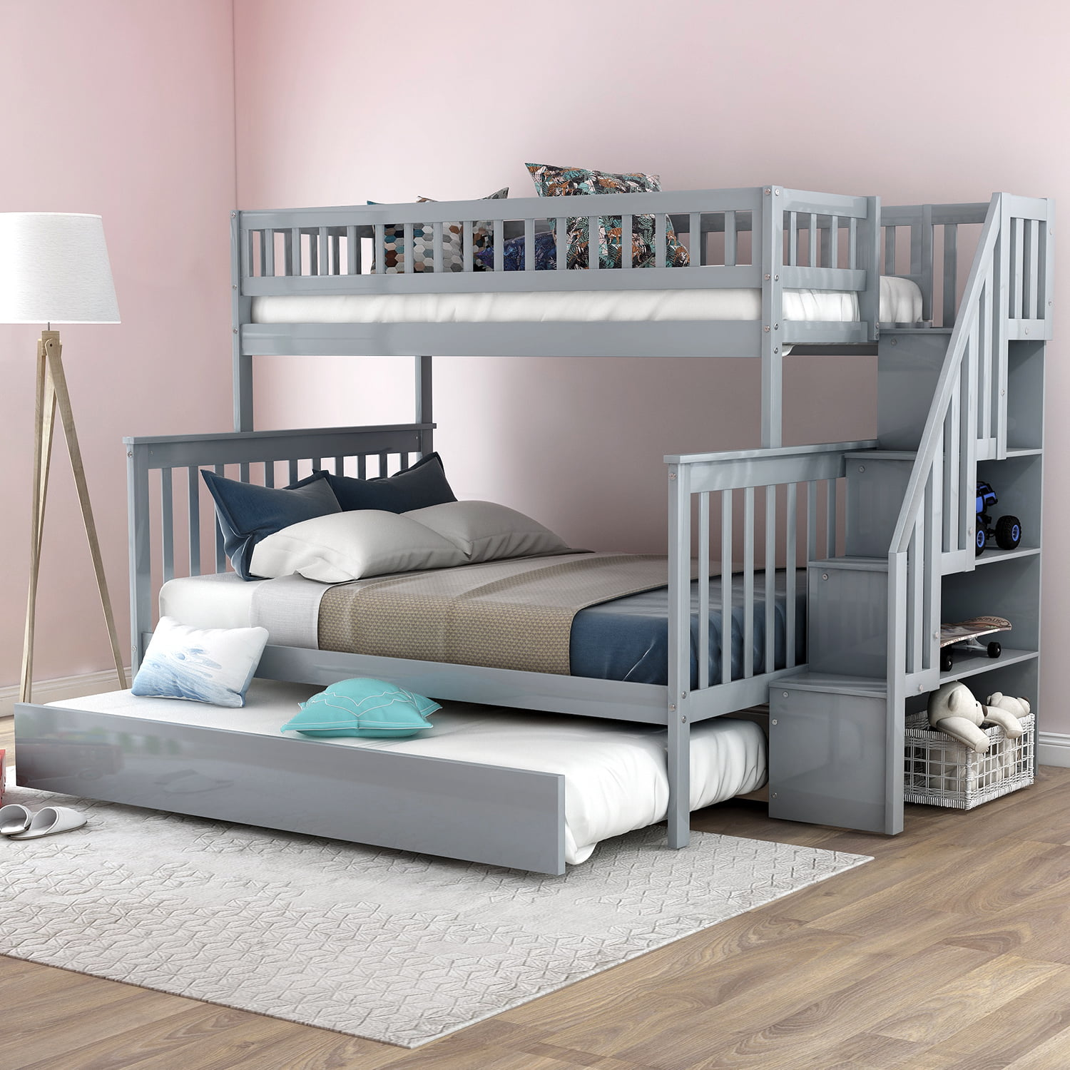 Bunk Bedideas: Harper&Bright Designs Twin Over Full Bunk Bunk Bed With