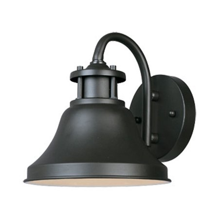 Bronze 1 Light 7in. Wall Lantern from the Bayport (Bronze Vintage Wall Lantern)