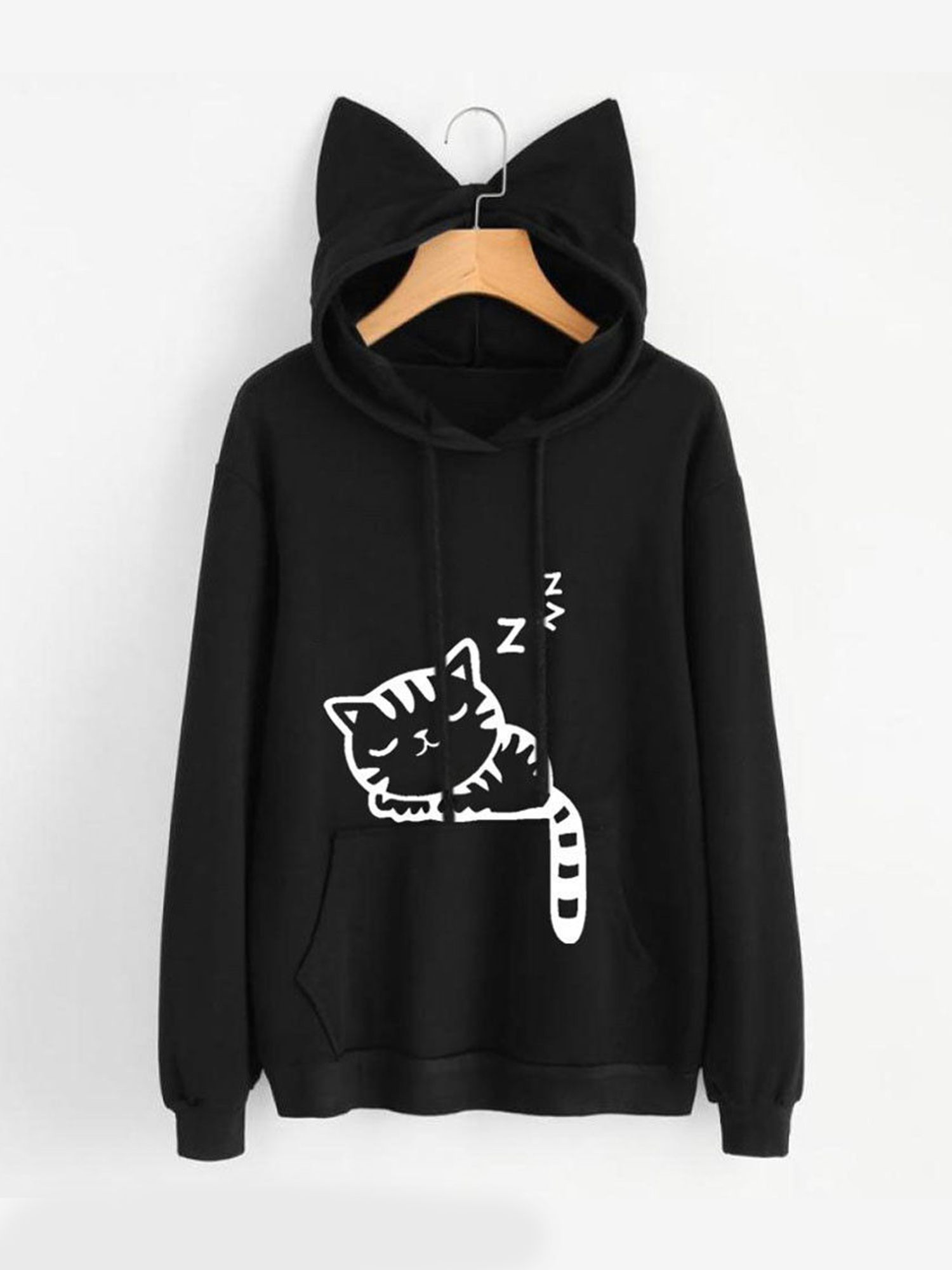 b3cc9162a Topcobe - Clothes for Women on Clearance! Women's Pullover Hoodie for Women,  Long Sleeve Cat Printed Hooded Sweatshirts for Juniors, Black Gift Hoodies  ...