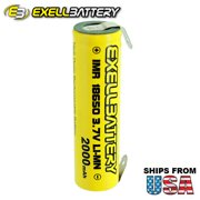 6pc NEW FRESH IMR 18650 3.7V LiMN 2000mAh Rechargeable Battery w/ SOLDER TABS