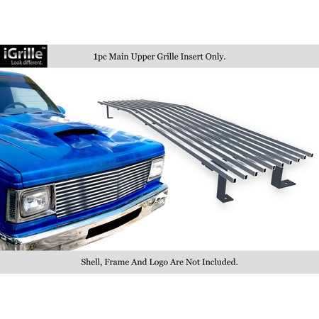 Compatible with 82-90 Chevy S-10 Pickup Blazer S-15 Jimmy Stainless T304 Billet Grille Grill Chrome Polished N19-S40058C