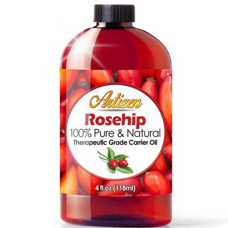 4oz Rosehip Oil by Artizen (100% PURE & NATURAL) - Cold Pressed & Harvested From Fresh Roses Bushes & Rose Seed - Rose Hip Oil is Perfect for Your Skin, Face, Nails, & Hand Cold Pressed Rose Hip Seed