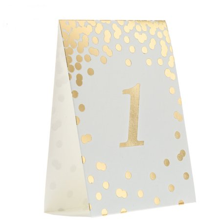 Gold Confetti Table Number Cards Wedding - Table Numbers For Wedding Reception