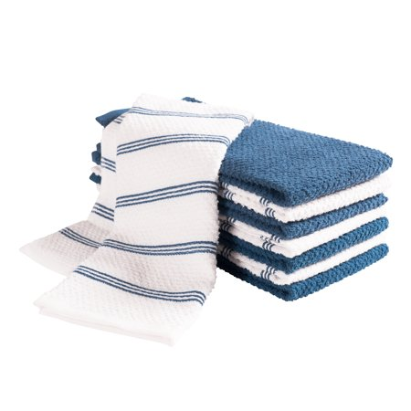 Pantry Piedmont Kitchen Towels (Set of 8, 16x26 inches), 100% Cotton, Ultra Absorbent Terry Towels - Paris