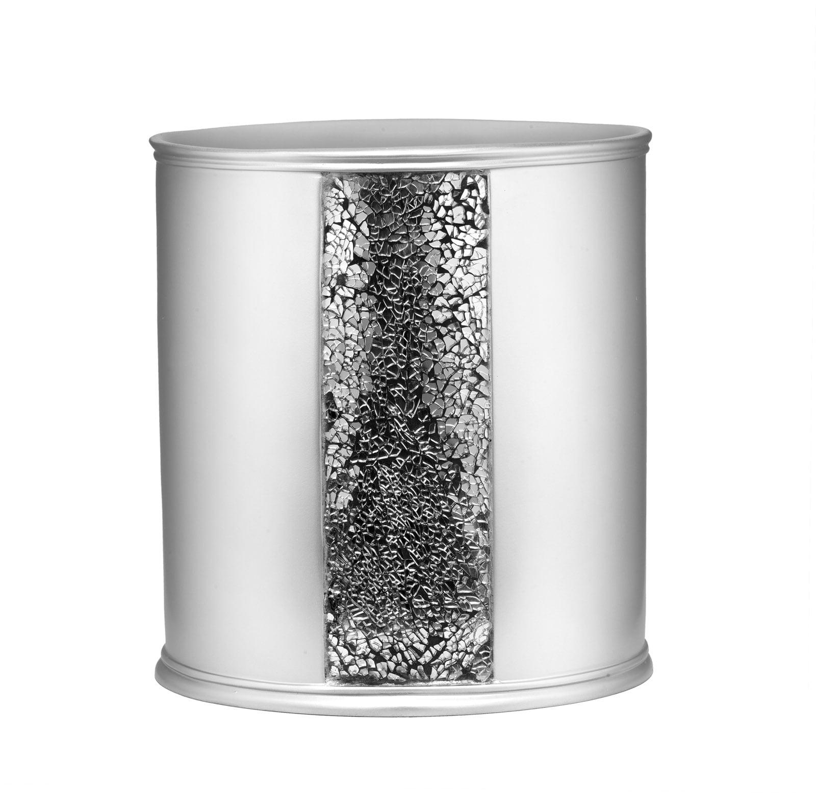Popular Bath Sinatra Silver Collection - Bathroom Waste Basket