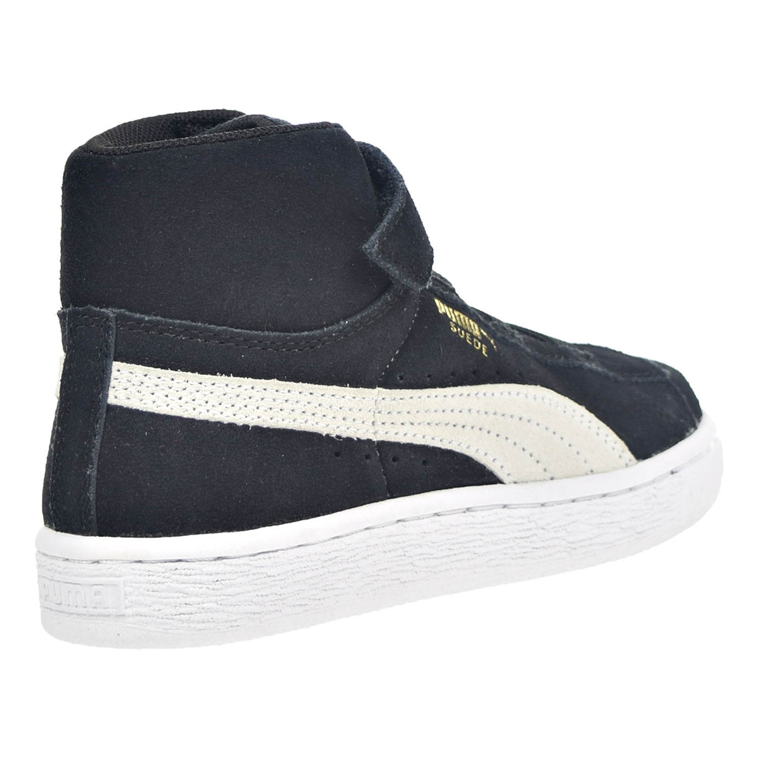 PUMA - Puma Suede Classic Mid V Toddlers Little Kids Shoes Black White Team Gold  356627-01 - Walmart.com 7637782ec