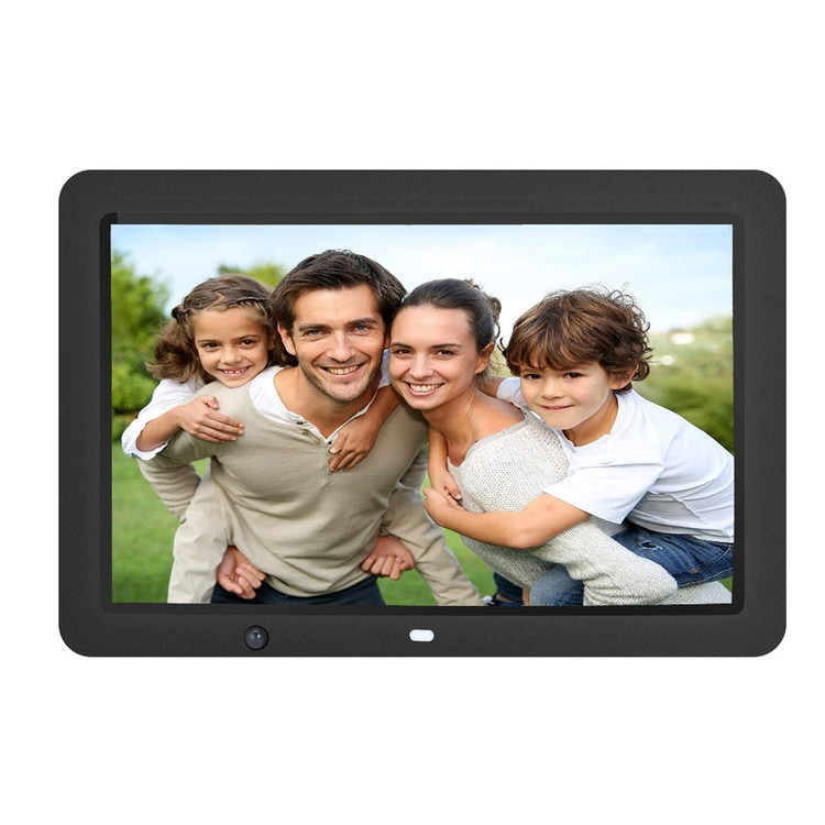 12-Inch Digital Photo Frame with 8GB Storage, High Resolution LCD, MP3 Music and HD Video Playback, Auto On/Off Timer, Ultra Slim Design