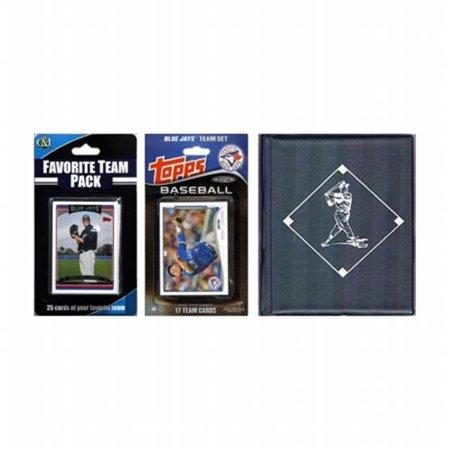 CandICollectables 2014JAYSTSC MLB Toronto Blue Jays Licensed 2014 Topps Team Set & Favorite Player Trading Cards Plus Storage Album (Blue Baseball Player)