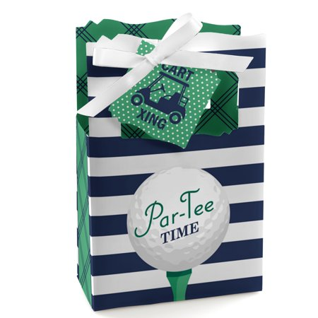 Par-Tee Time - Golf - Birthday or Retirement Party Favor Boxes - Set of 12 - Golf Favors Ideas