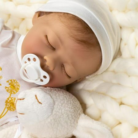 Paradise Galleries Reborn Baby Doll With Magnetic Pacifier, Wishes And Dreams, 21 inch Sleeping Newborn Girl in GentleTouch Vinyl, 6-Piece Doll Gift (Best Wishes For Newborn Baby Girl)