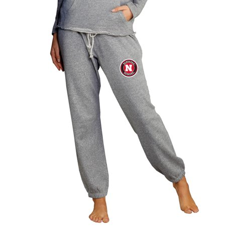 Nebraska Cornhuskers Concepts Sport Women's Mainstream Knit Jogger Lounge Pants - Heather Gray (Nebraska Lounger)