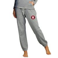 Nebraska Cornhuskers Concepts Sport Women's Mainstream Knit Jogger Lounge Pants - Heather Gray