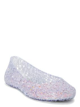 Wonder Nation Glitter Jelly Flat (Little Girls & Big Girls)
