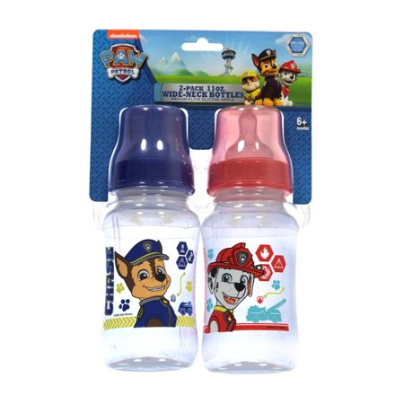 Paw Patrol  On The Chase  2 Pack Wide Neck Bottles  11 Oz