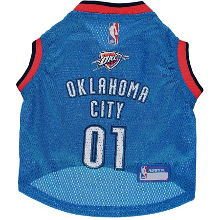 Pets First NBA Oklahoma City Thunder Basketball Dog Jersey, Available in Various Sizes
