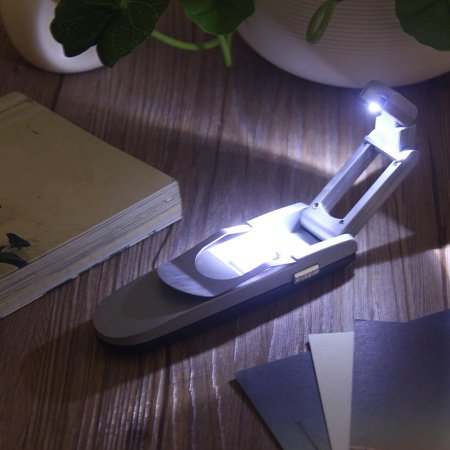 Small Book Light Portable Bright Clip Adjule Led Desk Reading Booklight Lamp