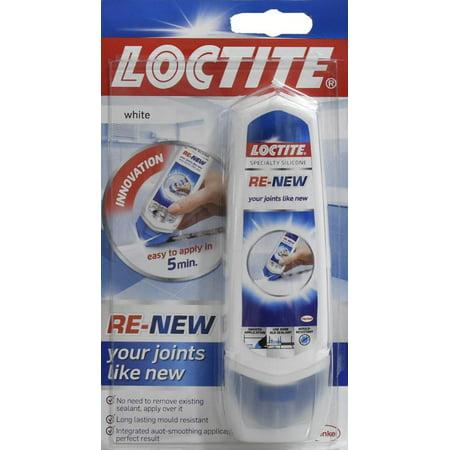 Loctite ReNew Specialty Silicone Sealant Caulk, White, 3.3 fl oz.