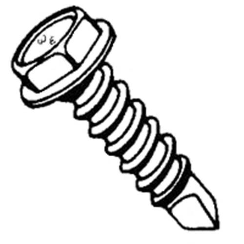 W & E Sales Co WE2150 8 in. x .75 in. Sheet Metal Screw Teks Type Self Drilling Self Tapping