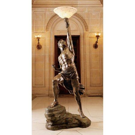 Design Toscano Prometheus 74 39 39 Torchiere Floor Lamp