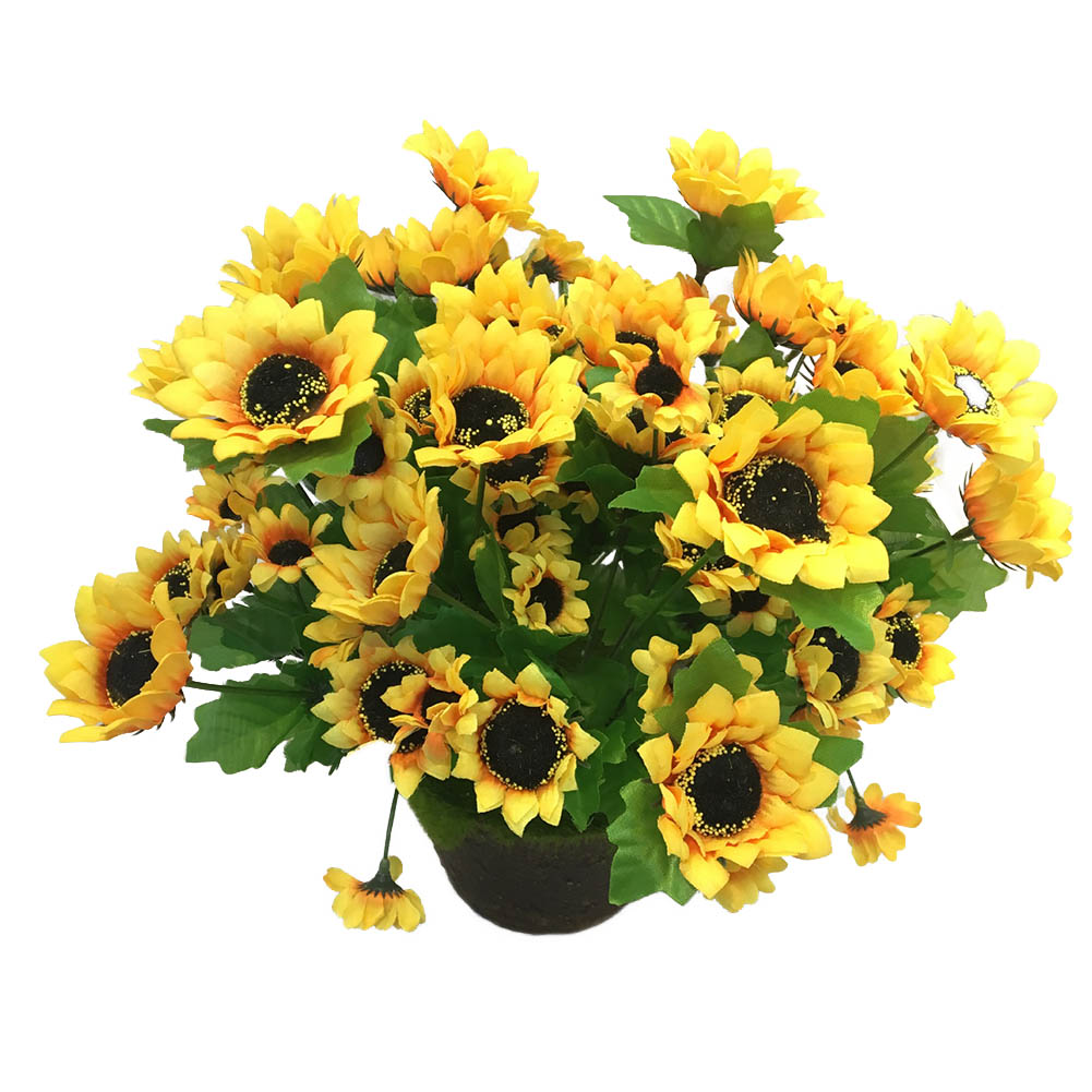 KABOER 1 Bouquet Artificial Sunflowers Fake Sunflowers ...