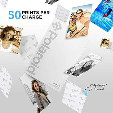 Polaroid Mint Pocket Instant Printer (White) All-in-Bundle + Paper (20 Sheets) + Deluxe Pouch + Photo Album + 9 Unique Sticker Sets + Markers + Scissors + Border Stickers and So Much More - image 3 de 4
