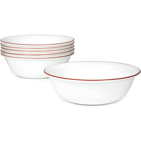 Corelle Livingware Bandhani 18- oz Soup Bowl, Set of 6 - Harvest Rim Soup Bowl
