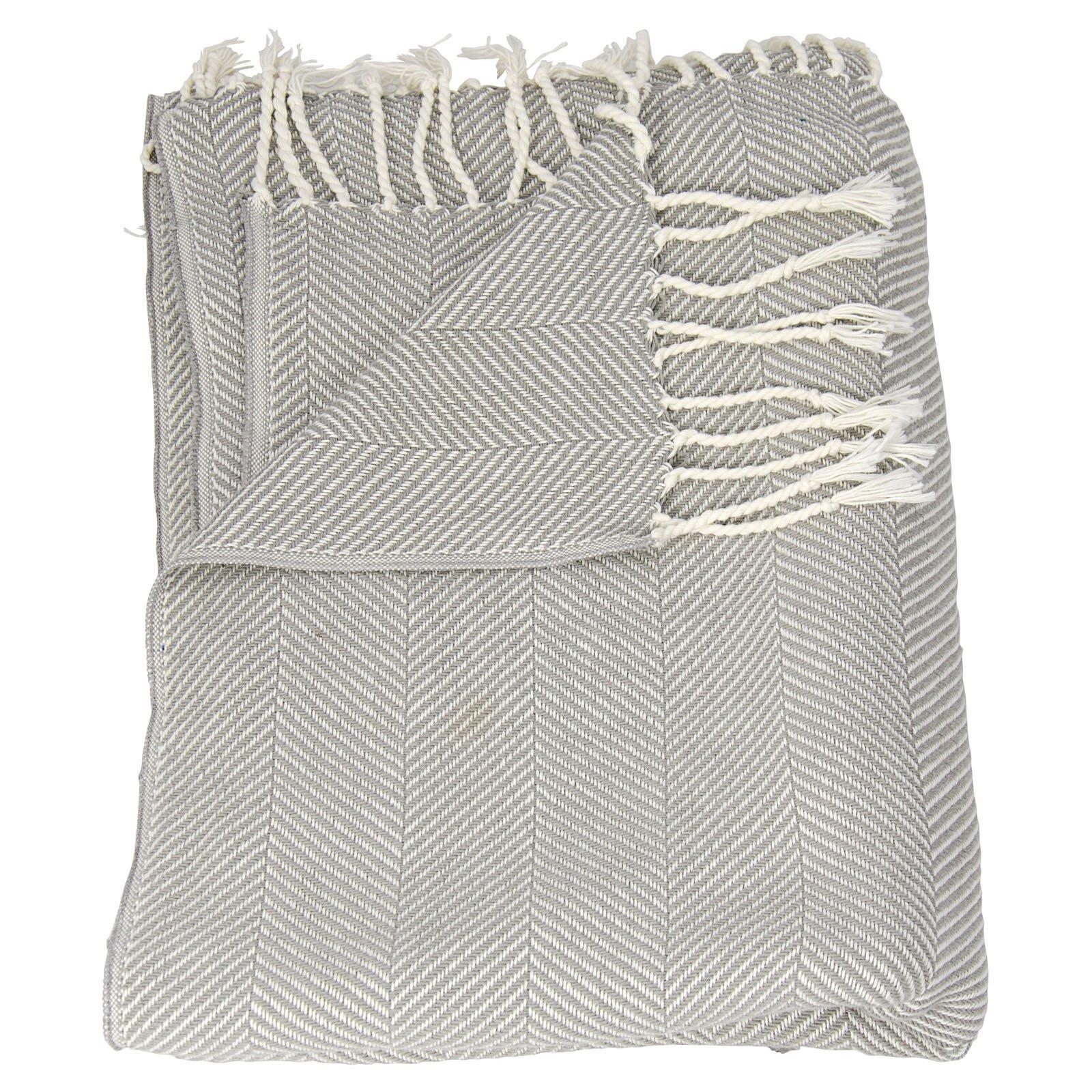"Nourison Organic Cotton Throw Blanket, 50"" x 70"", Purple"