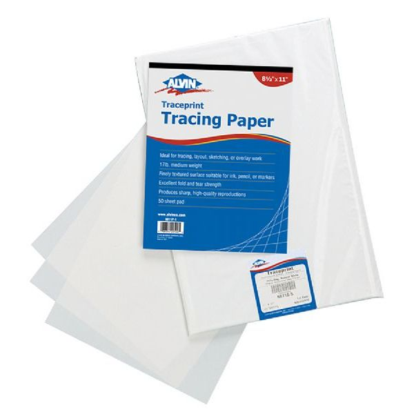 "Alvin Tracing Paper 100 Loose Sheets 8-1/2"" x 11"""