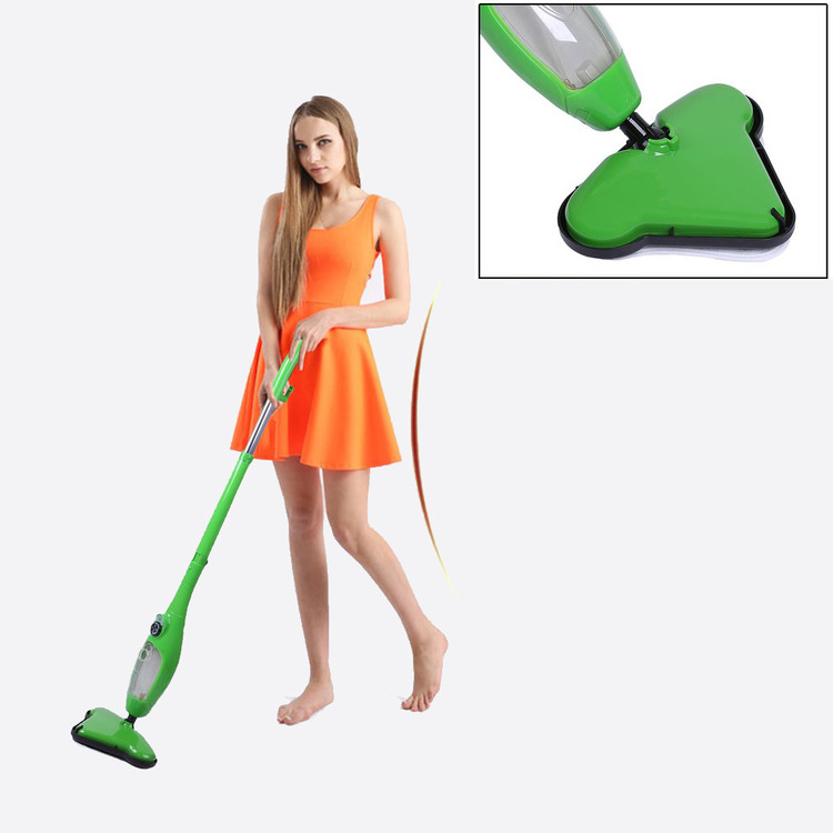 Floor Steam Vacuum Cleaner Cleaning Sweeper Steamer Deluxe Steam Pockets Mop Home Furnishing Supplies Green,green