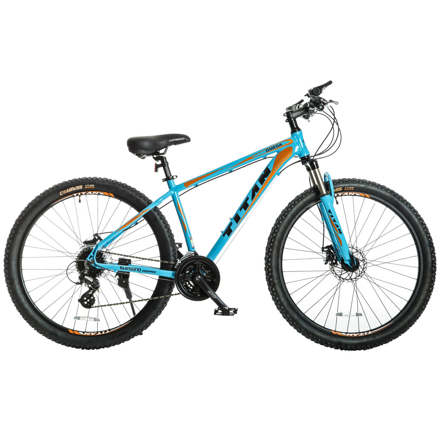 "27.5"" Titan Omega Women's Mountain Bike, Blue with Black and Orange Decals by Titan"