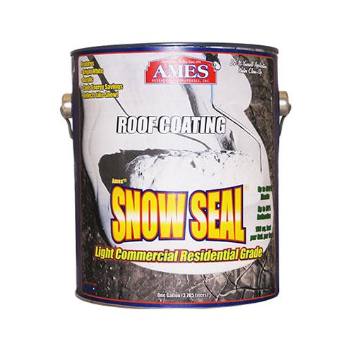 Ames Research Laboratories SSC1 Snow Seal Premium Roof Coating, Contractor Grade, Elastomeric, Bright White, 1-Gal.
