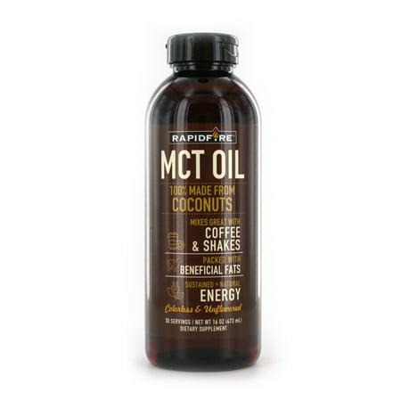 Rapid Fire MCT Oil Dietary Supplement, 16 Fl Oz, 30 Servings