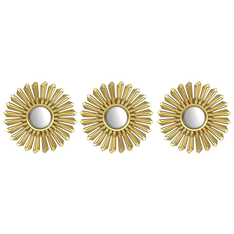 Mainstays 3 pack gold metallic decorative mirrors