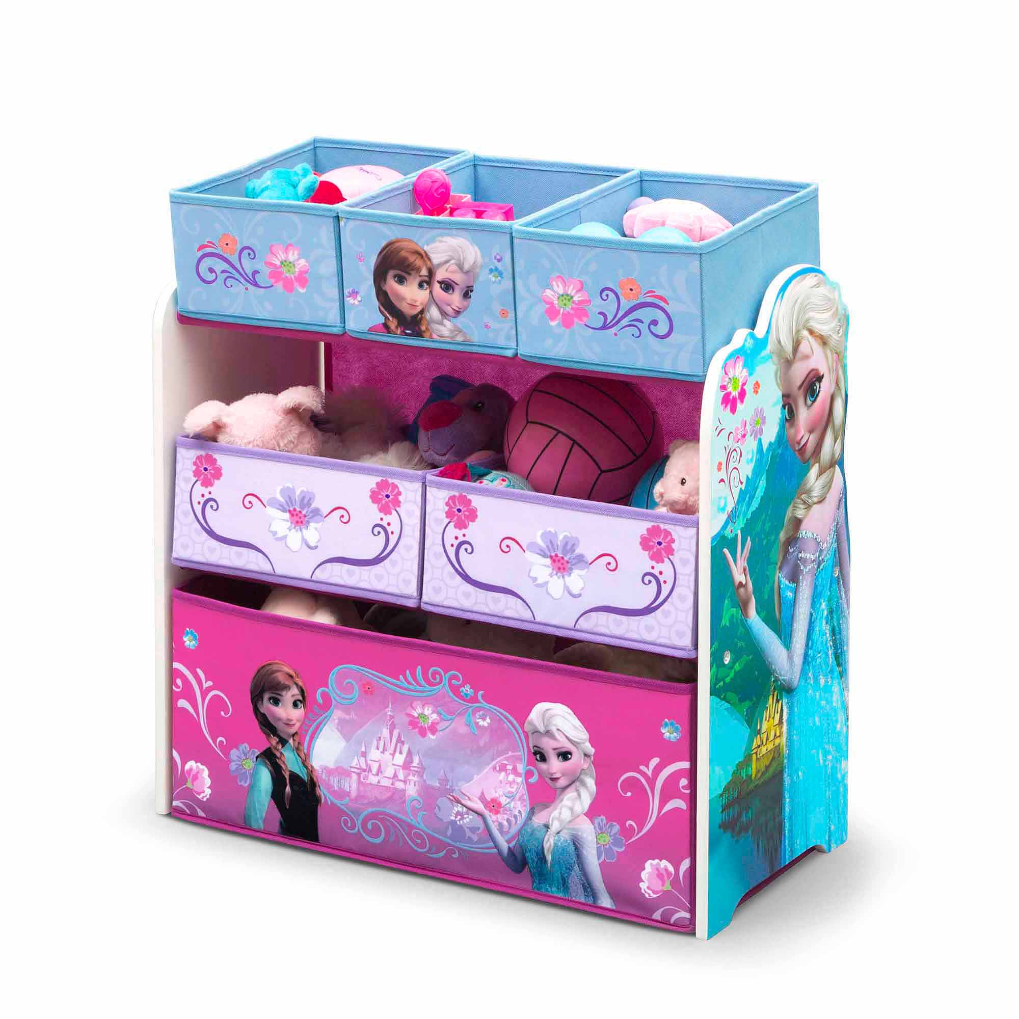Lovely Disney Frozen Multi Bin Toy Organizer By Delta Children   Walmart.com