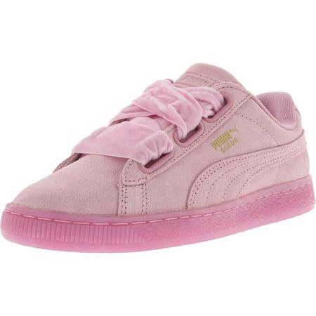 a1b853cb2c79 PUMA - Puma Women s Heart Reset Suede Prism Pink   Ankle-High Fashion  Sneaker - 7.5M - Walmart.com