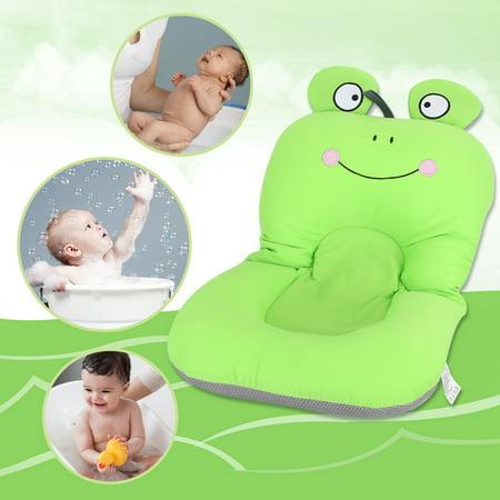 2 Typles Foldable Non Slip Cute Frog Baby Bath Mat Soft