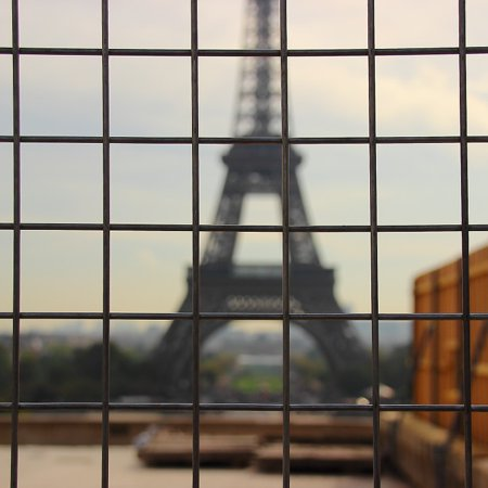 Eiffel Tower Cut Out (Canvas Print Out of Focus Tower Paris Eiffel Tower France Stretched Canvas 10 x)