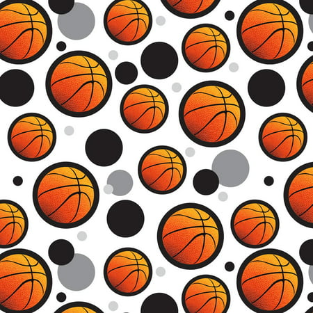 Basketball Ball Sports Hoops Premium Gift Wrap Wrapping Paper Roll Pattern