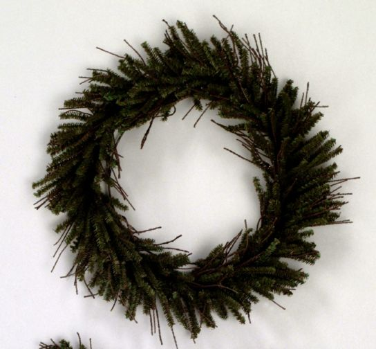 "Vickerman 20"" Unlit Vienna Twig Wreath."