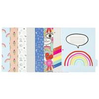 Yoobi, 8 Tab Dividers- Multi-print Doodles