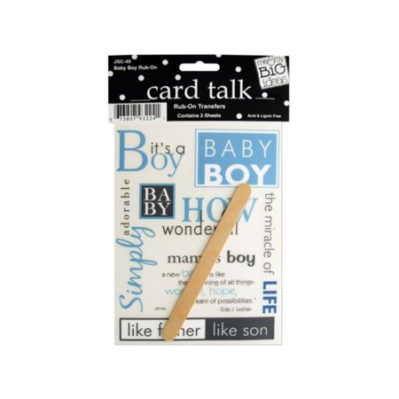 Bulk Buys CG079-72 Baby Boy Rub-On Transfers