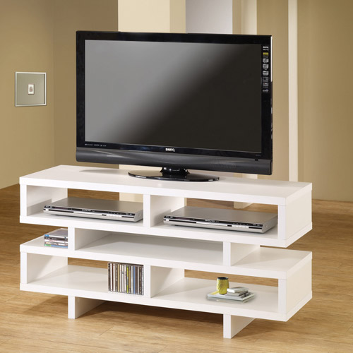 """Coaster Company TV Console for TVs up to 46"""", White"""