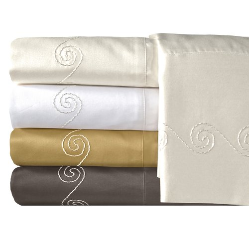 Veratex, Inc. Supreme Sateen 800-Thread Count Swirl Bedding Sheet Set
