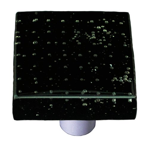 Aquila Art Glass Bubbles Square Knob