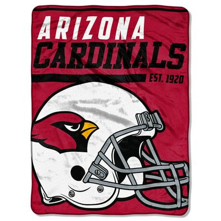 "NFL Arizona Cardinals ""40-Yard Dash"" 46""x 60"" Micro Raschel Throw Arizona Cardinals Soft Blanket"