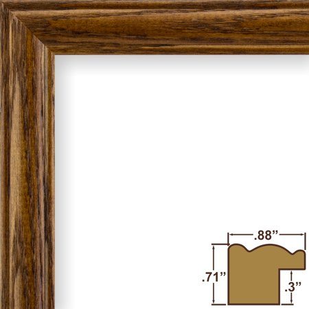 Craig Frames Wiltshire 29 Traditional Brown Solid Wood Picture