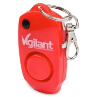 Vigilant 130 dB Personal Alarm with Backup Whistle, Hidden OFF Button and Bag / Purse Clip (Red, PPS-23R)